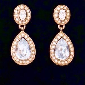 Bridgette Drop Pave Crystal Earrings Carolee